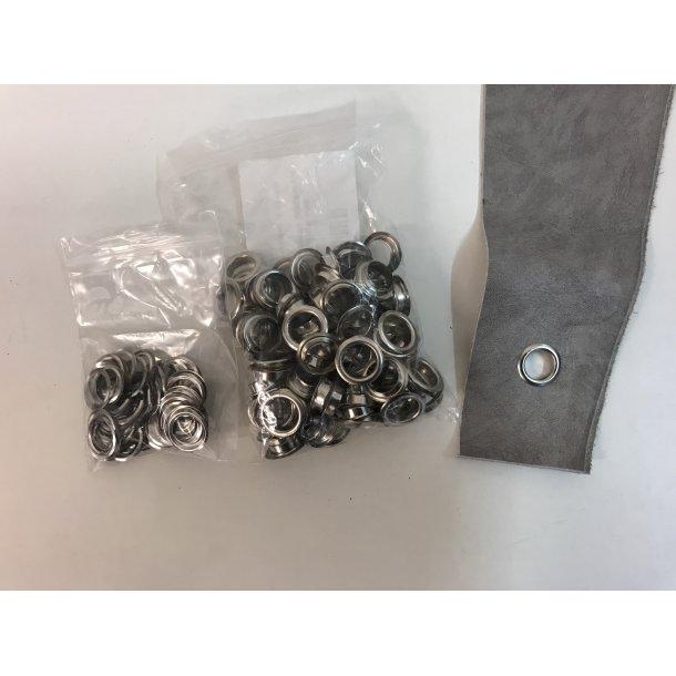 Sejlringe i sølv med hul på 10 mm.
