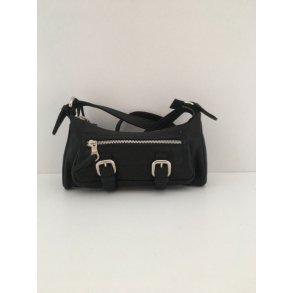 Unik Vintage taske i læder præget som krokodille skind